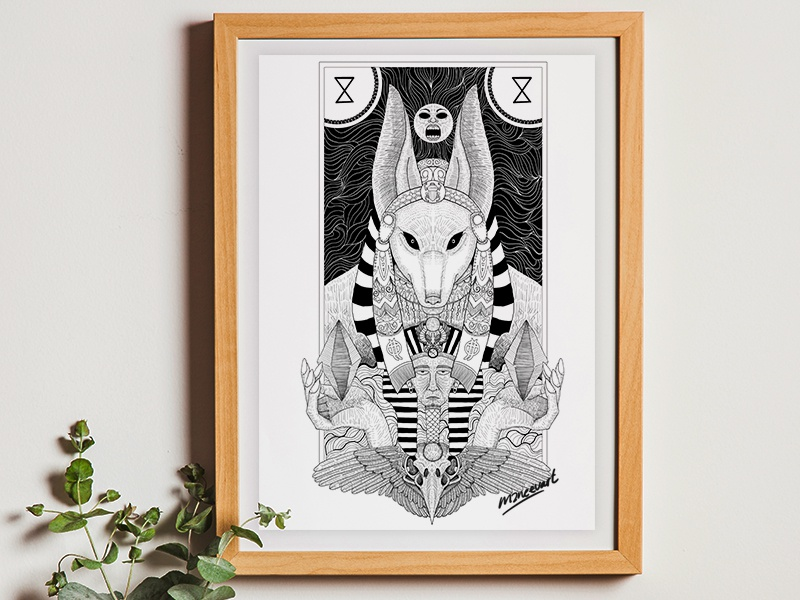 Anubis myths digital drawing drawing illustration