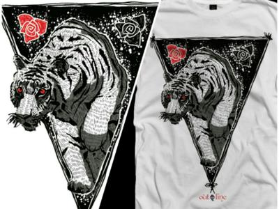 Tigra digital drawing t shirt apparel illustration design