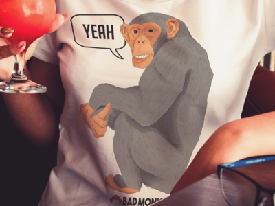 YEAH - Badmonkey brand illustration digital drawing design t-shirt apparel