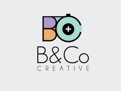 B&Co Creative flat photography design logo