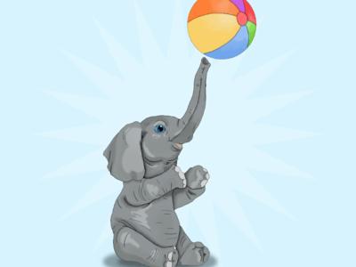 Baby elephant t-shirt animal elephant illustration artwork design