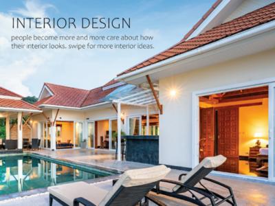 Interior design get more attention mockup design inspiration interior design