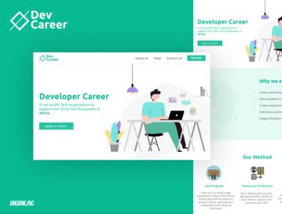 Dev Career - Redesign illustration nigeria mobile ios design app branding app ui design ux