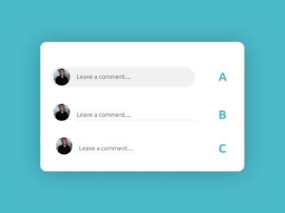 Comment Box mobile ui ios design app branding app design ux