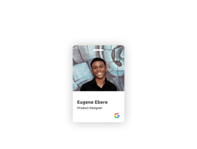 Company ID card ui design