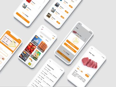 Grocery App design app app uidesign nigeria ios grocery ux ui pack
