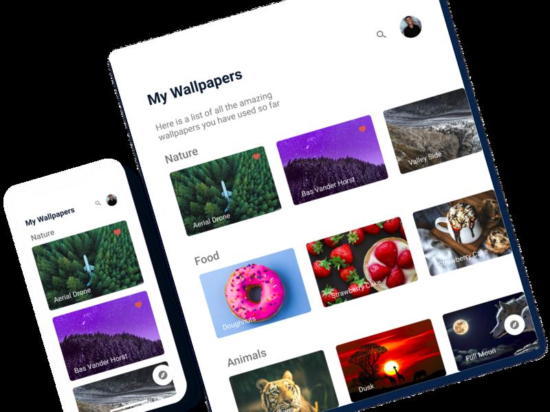 Wallpaper Holder nigeria mobile ios 10 design app ios ui design app ux