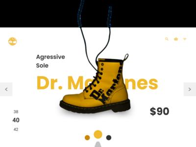 Product page - Dr Martens nigeria shoes design web ux ui