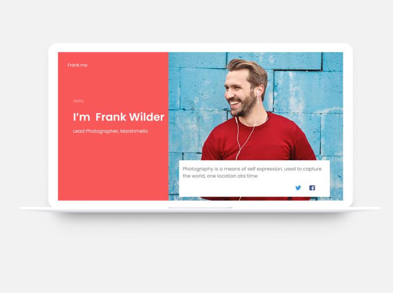 Profile Page macbook web design web ui design ux