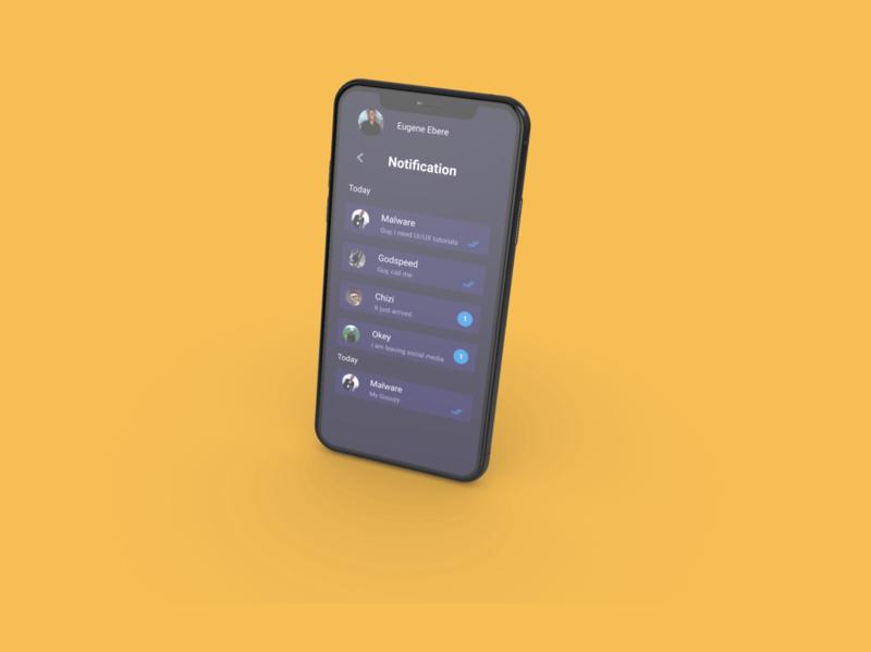 Social notification nigeria mobile ios 10 design app ios branding app ui design ux