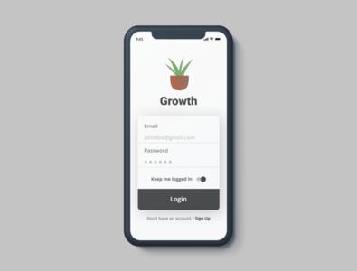 Login Screen design app ios app ui design ux