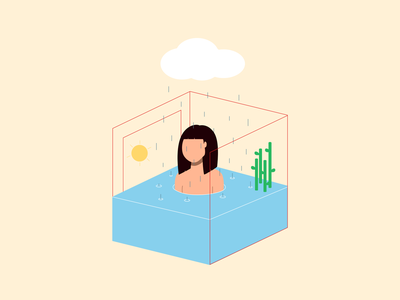Self Isolation self isolation quarantine mental health covid-19 stay home isometric vector illustration digital design