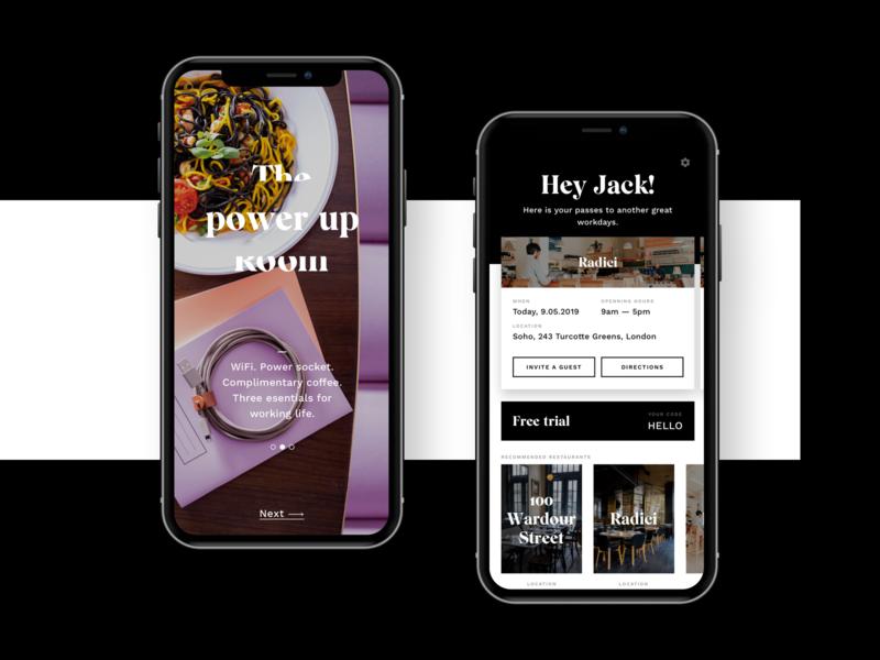 Workplace booking app Workroom ux design branding coworking booking app workplace booking ui app design
