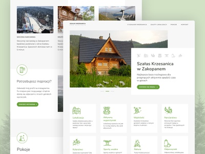 Mountain house landing page vector design illustration colors minimalist icons simple landing page design ui landing page