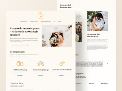 Humanistic wedding website design responsive website design responsive elegant subtle colors serif font typography gradient icons event ceremony wedding planning wedding company web design website design website landing page