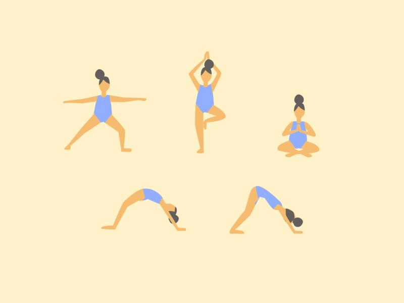 Yogi girl flat vector illustration vector illustration vector flat girl yogi yoga girl yoga pose yoga design illustration