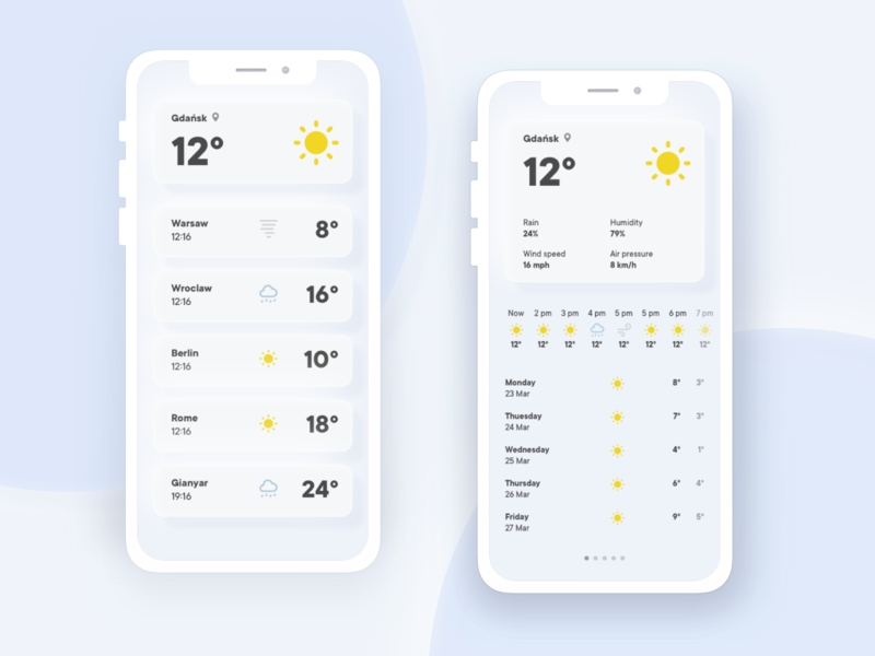 minimalistic weather app concept app design weather forecast minimalistic minimalism ux ui ui design app weather