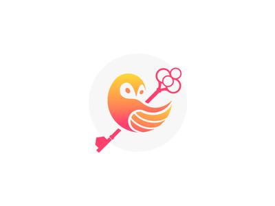 Owl Key vector illustration logodesign key owl logo