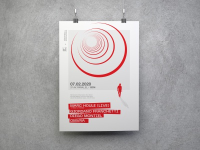 Electrica Flyer red poster flyer electrica circles ad print illustration music concert