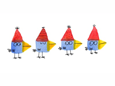 Red Party Hats