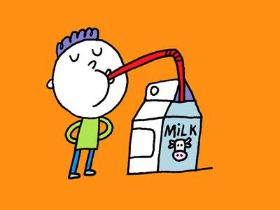 Mike likes milk