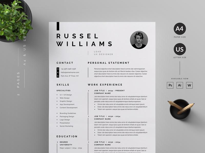 Resume/CV by Reuix Studio | Dribbble | Dribbble