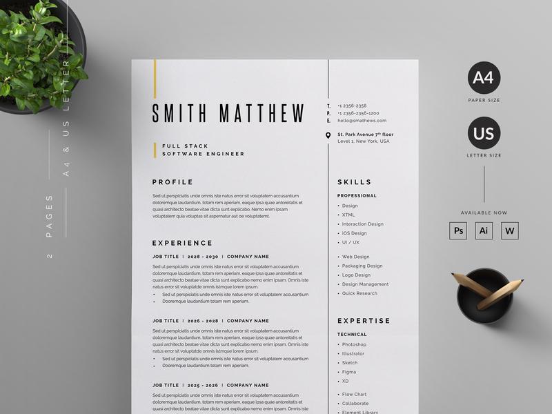 Resume/CV by Reuix Studio on Dribbble