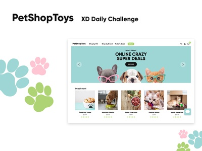 PetShopToys - eCommerce platform brand identity design system ecommerce adobe xd interaction design web design ui ux design