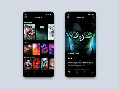 Movie player app application app motion iphone ios app design user interface design user experience design animation application design ios app app design ui ux ui ux design interaction design adobe xd