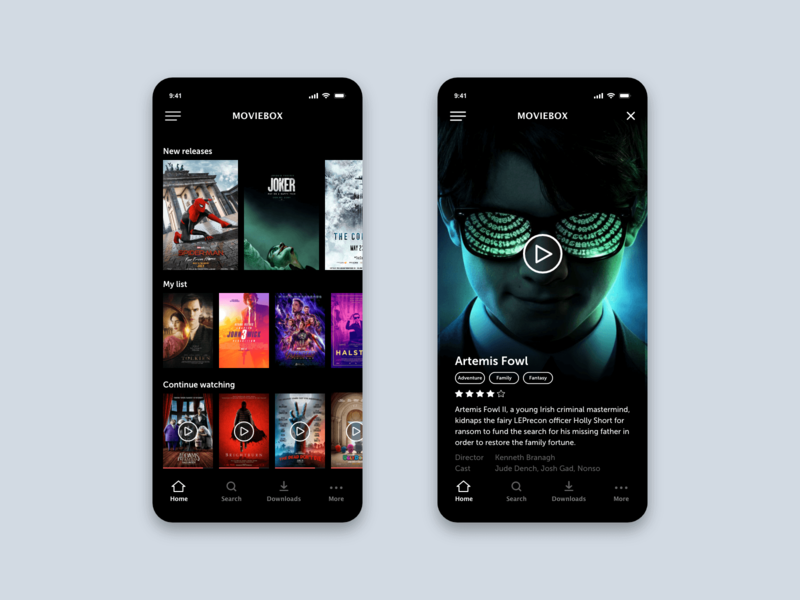 Movie player app application app motion iphone ios app design user interface design user experience design animation application design ios app app design ui ux ui ux design interaction design adobe xd