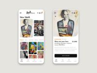 Art store app - light mode