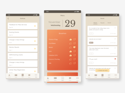 Redesign - Food service application