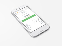 Invoice to iphone 6 perspective view