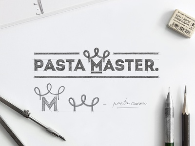 PASTA MASTER COMPETITION Graphic Conception artworks pastamaster branding design brand handdrawn handmade logodesign inspiration logo graphicdesign brainyworksgraphics