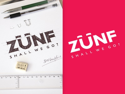 ZUNF Design Logo artworks vectorgraphics vectors typogaphy drawinglogo design brand handmade handdrawn logodesign inspiration logo graphicdesign brainyworksgraphics