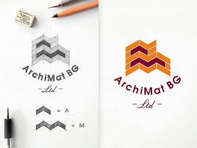 Archi Mat BG Design Logo typography design work scetch pencil art direction artwork vectors vectorgraphics drawinglogo handmade brand handdrawn logodesign inspiration logo graphicdesign brainyworksgraphics