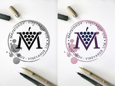MAYSTOROV VINEYARDS Ltd.  Design Logo tipography vectorgraphics drawinglogo design handmade brand handdrawn logodesign logo graphicdesign brainyworksgraphics