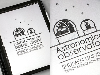 Astronomical Observatory Design Logo typogaphy branding drawinglogo drawing design handmade brand handdrawn logodesign inspiration logo graphicdesign brainyworksgraphics