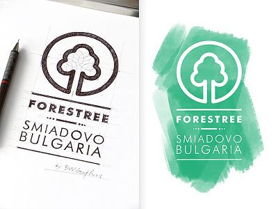 FORESTREE Design Logo forestree inspiration green logo logo design loveart digital art digitallogo handdrawnlogo typography branding drawinglogo handmade brand handdrawn logodesign logo graphicdesign brainyworksgraphics