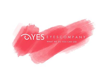 Eyes Company Design Logo Red Brush vectors vectorlogo drawinglogo brand typography handmade handdrawn logodesign inspiration logo graphicdesign brainyworksgraphics