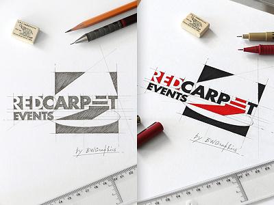 Red Carpet Events Design Logo we all love art loveart designworks vectorgraphic vectors typogaphy design drawinglogo handmade brand handdrawn logodesign inspiration logo graphicdesign brainyworksgraphics redcarpetevents
