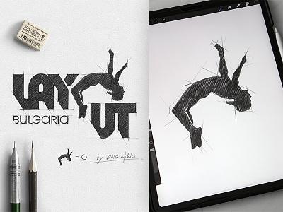 Layout Bulgaria applepencil ipadpro typography design handmade brand handdrawn drawinglogo logodesign logo graphicdesign brainyworksgraphics