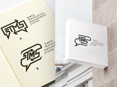 sTMS - Translation Management System - Logo Design lightbox outdooradvertising signbox typography drawinglogo design handmade brand handdrawn graphicdesign logodesign logo brainyworksgraphics