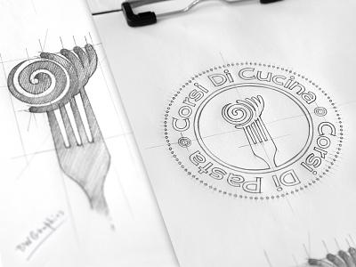 Corsi Di Cucina Corsi Di Pasta Design Logo logodesign logo inspiration handmade handdrawn graphicdesign drawinglogo corsidicucinacorsidipasta brainyworksgraphics