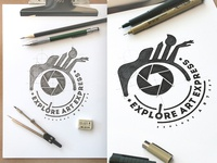 Explore Art Express Design Logo