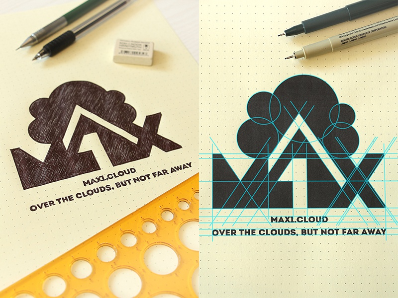 Max1.Cloud Design Logo vectorlogiclines vectorlines designgeometry inspiration design vectors vector typography vectorgraphics handmade brand drawinglogo handdrawn logodesign graphicdesign logo max1.cloud brainyworksgraphics