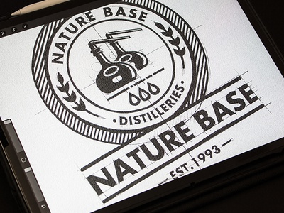 Natur Base Design Logo iPad Pro