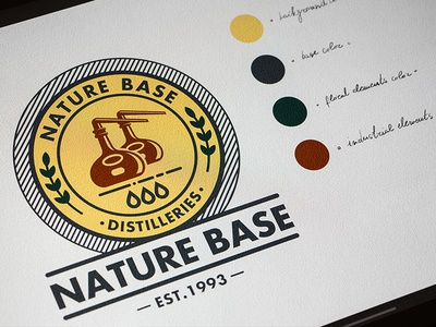 Nature Base Design Logo iPad Pro Colors
