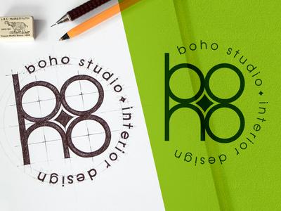 boho studio - interior design - Design Logo