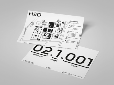 Design work for HSD (map flyer) university flyer design flyer layout map